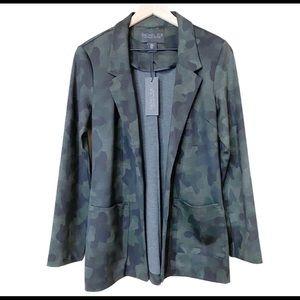 NWT Rachel Zoe open front blazer camo camouflage